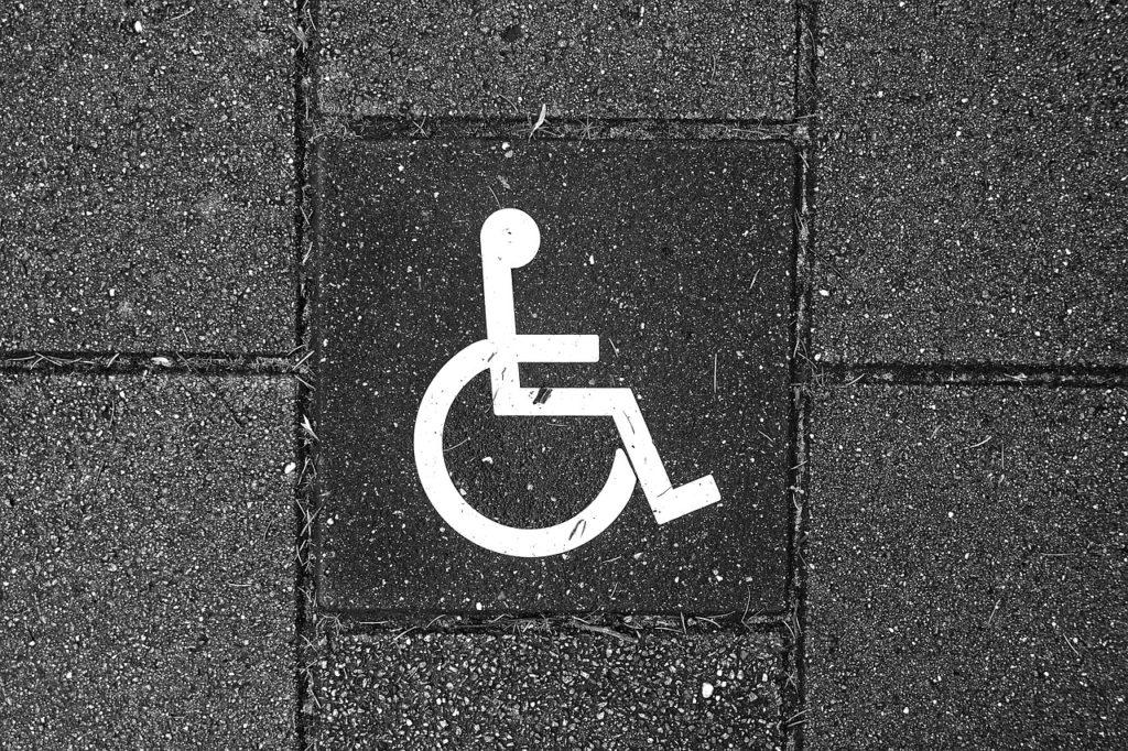 Bild eines Rollstuhl-Schildes